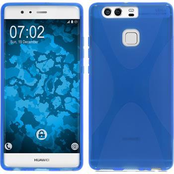 Silikon Hülle P9 X-Style blau