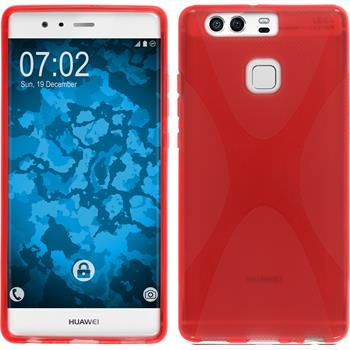Silikonhülle für Huawei P9 X-Style rot