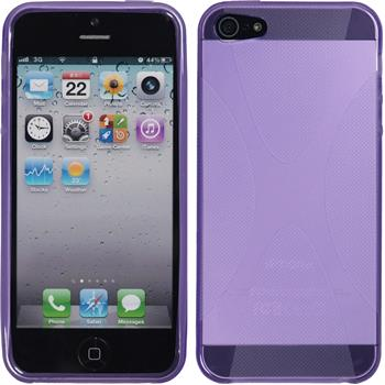 Silicone Case for Apple iPhone 5 / 5s X-Style purple