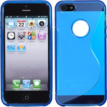Silicone Case for Apple iPhone 5 / 5s S-Style logo blue