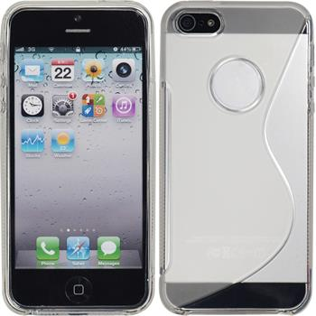 Silicone Case for Apple iPhone 5 / 5s S-Style logo transparent