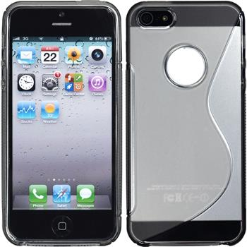 Silicone Case for Apple iPhone 5 / 5s S-Style logo gray