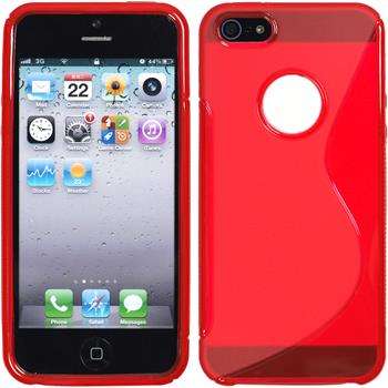 Silicone Case for Apple iPhone 5 / 5s S-Style logo red