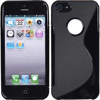 Silicone Case for Apple iPhone 5 / 5s S-Style logo black