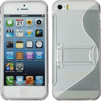 Silicone Case for Apple iPhone 5 / 5s S-Style gray