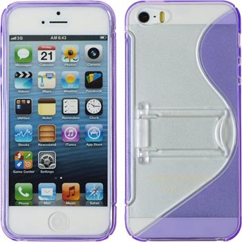 Silicone Case for Apple iPhone 5 / 5s S-Style purple