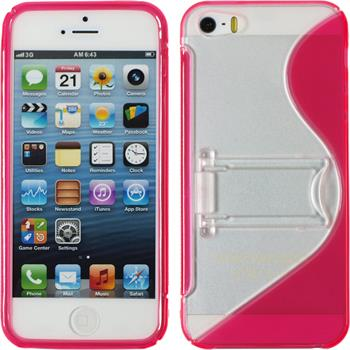 Silicone Case for Apple iPhone 5 / 5s S-Style hot pink