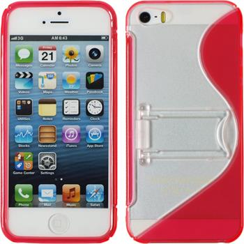 Silicone Case for Apple iPhone 5 / 5s S-Style red