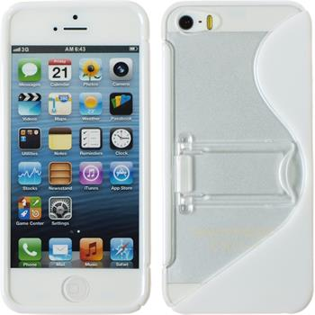 Silicone Case for Apple iPhone 5 / 5s S-Style white