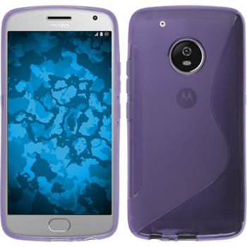 Silicone Case Moto G5 Plus S-Style purple + protective foils