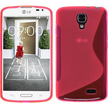 Silicone Case for LG F70 S-Style hot pink