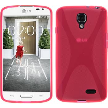 Silicone Case for LG F70 X-Style hot pink