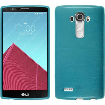 Silikonhülle für LG G4 brushed blau
