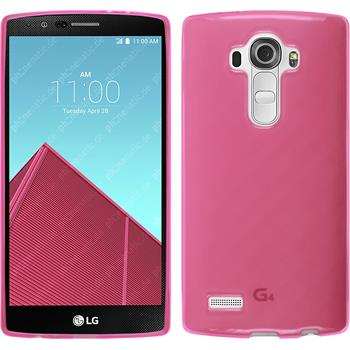Silikon Hülle G4 transparent rosa