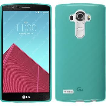 Silicone Case for LG G4 transparent turquoise