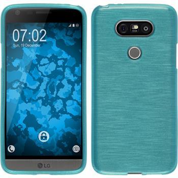 Silikon Hülle G5 brushed blau