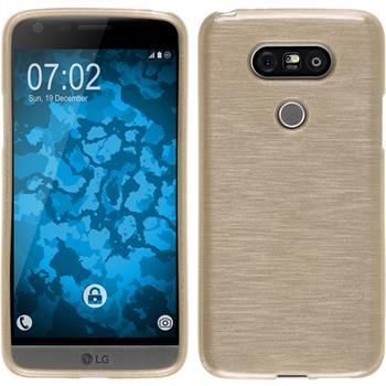 Silikonhülle für LG G5 brushed gold