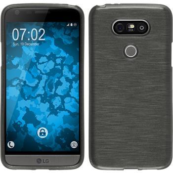 Silikonhülle für LG G5 brushed silber
