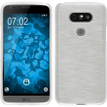 Silikon Hülle G5 brushed weiß Case
