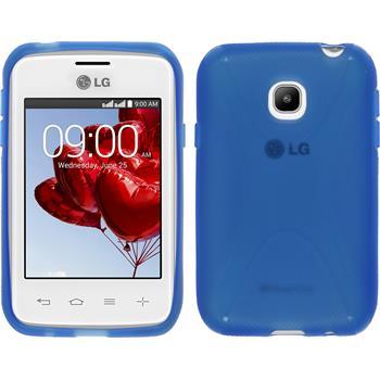 Silikon Hülle L20 X-Style blau