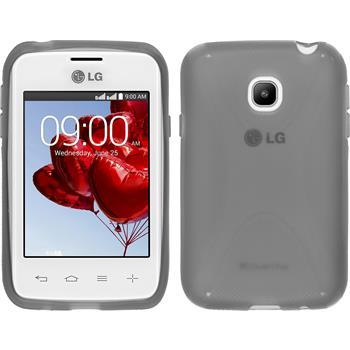 Silikonhülle für LG L20 X-Style grau
