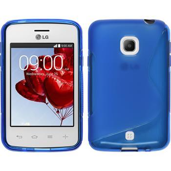 Silikon Hülle L30 S-Style blau