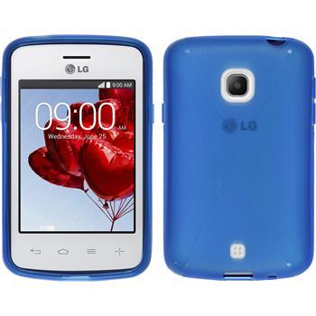 Silikon Hülle L30 X-Style blau