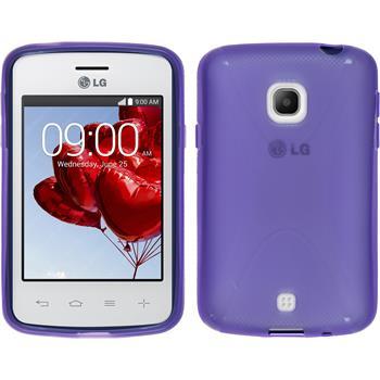 Silikon Hülle L30 X-Style lila