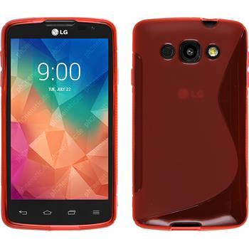 Silikonhülle für LG L60 S-Style rot