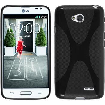 Silikon Hülle L70 X-Style schwarz