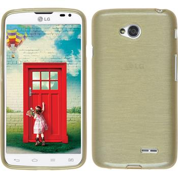 Silicone Case for LG L70 Dual brushed gold