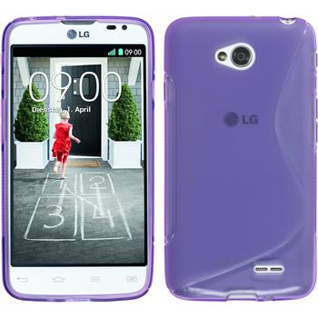 Silicone Case for LG L70 Dual S-Style purple