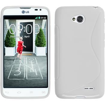 Silicone Case for LG L70 Dual S-Style white