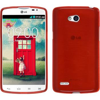 Silicone Case for LG L80 Dual brushed red