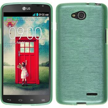 Silikonhülle für LG L90 Dual brushed grün
