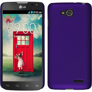 Silicone Case for LG L90 Dual brushed purple