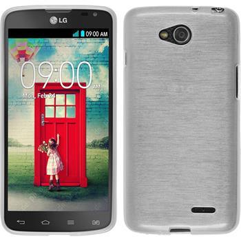 Silikonhülle für LG L90 Dual brushed weiß