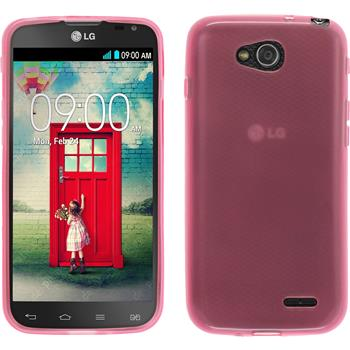 Silicone Case for LG L90 Dual transparent pink