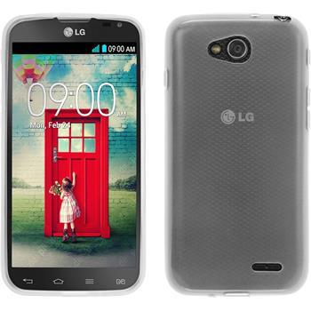 Silikon Hülle L90 Dual transparent weiß Case