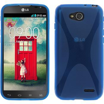 Silikon Hülle L90 Dual X-Style blau