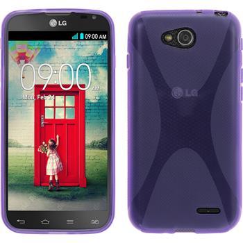 Silikonhülle für LG L90 Dual X-Style lila
