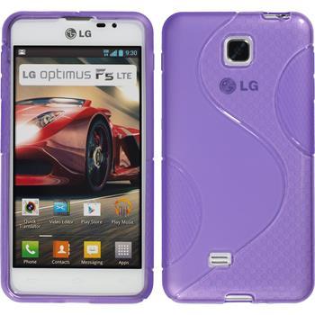 Silikon Hülle Optimus F5 S-Style lila