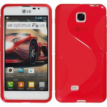 Silikon Hülle Optimus F5 S-Style rot