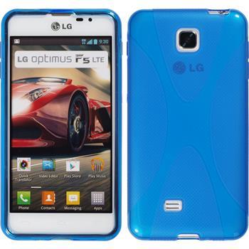 Silikon Hülle Optimus F5 X-Style blau