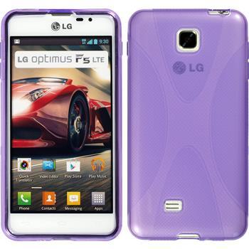 Silikon Hülle Optimus F5 X-Style lila
