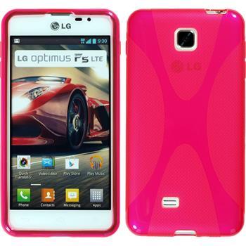 Silikon Hülle Optimus F5 X-Style pink