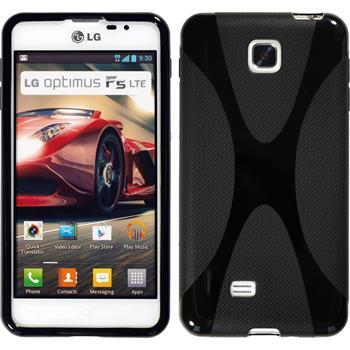 Silikon Hülle Optimus F5 X-Style schwarz