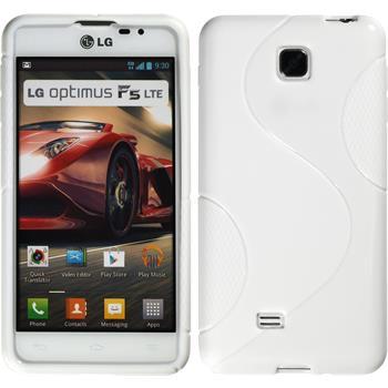 Silikon Hülle Optimus F5 S-Style weiß