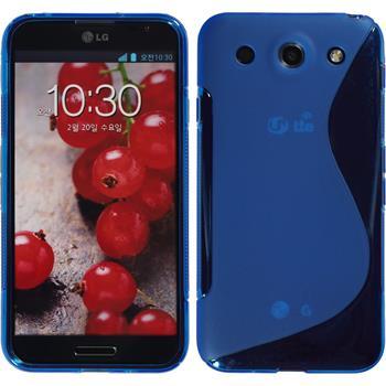 Silikon Hülle Optimus G Pro S-Style blau
