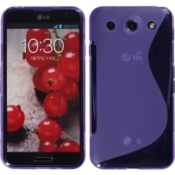 Silikonhülle für LG Optimus G Pro S-Style lila